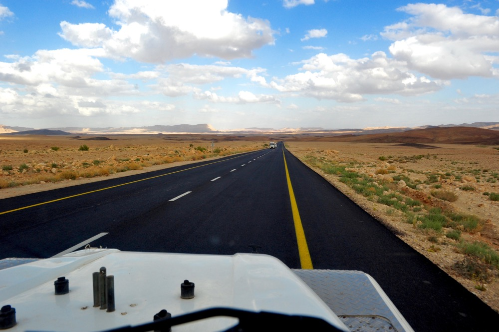 road to the crater